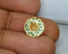 3.26 Cts Natural Tanzanian Unheated Mint Yellow Scapolite 9mm Round 1$ NR
