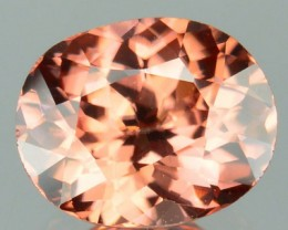 1.90 Cts Natural Imperial Brown Zircon Oval Cut 1$ NR