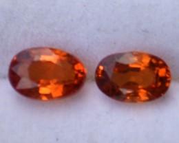 1.50 Carat Near Matched Pair of Sapphire and Spessartite Garnet