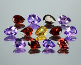 9.11 Cts Natural Semi Precious 13 Pcs Parcel Gemstone 7x5 Pear CUt NR