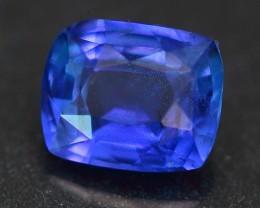 CERTIFIED 1.26Ct UNHEATED Ceylon Cushion Cut Blue Sapphire