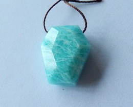 19.3 Cts Faceted Amazonite Smart Charm Bead