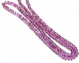 Rhodolite Garnet pink beads faceted 14 inch line garr05