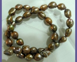 8.00X9.00MM LOVELY BRONZE FRESHWATER BAROQUE PEARLS