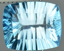 4.92 Cts Natural South American Blue Topaz Nice Concave Cut 1$ NR