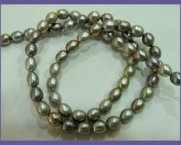 7.00X5.00MM GREY FRESHWATER RICE PEARLS