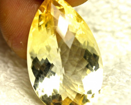29.6 Carat Natural South American VVS1 Cushion Cut Citrine