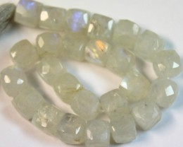 72.2 CTS NATURAL STRANDS MOONSTONE POLISHED BEADS P943
