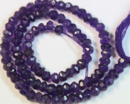 56.0 CTS NATURAL STRANDS AMETHYST POLISHED BEADS P946