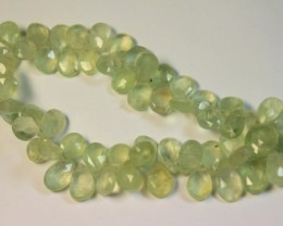 166 CTS NATURAL STRANDS PREHNITE POLISHED BEADS P953