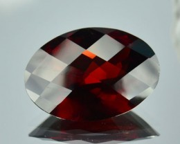 11.95 Cts Natural Red Pyrope Garnet Oval Checker Board 1$ NR