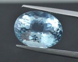 8.94ct oval Aquamarine gemstone certified