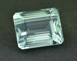 16.16ct Aquamarine octagon step cut rectangle certified