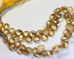 65 CTS ONE NATURAL STRAND OF TOPAZ POLISHED BEADS P 974