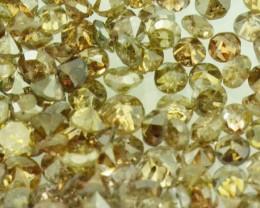 0.5ct Cognac brown diamonds 12  diamonds approx