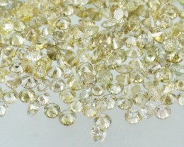 0.25ct Light Champagne Diamonds brilliant cut round 7 diamonds approx