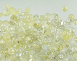 0.5ct light yellow champagne brilliant cut round 14 diamonds approx