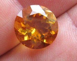 4.86cts Golden Yellow Citrine Round Shape