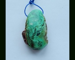 71.3 Cts Natural Chrysoprase Rough Pendant Bead