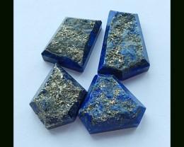 4PCS  Natural Lapis Lazuli Gemstone(B1804118)