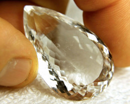 87.0 Carat VVS/VS White Quartz Pear - Superb