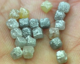 9 cube diamonds 2.85 to 3ct total mixed colors mixed colors