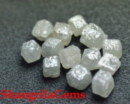 silver grey cube diamonds 3 pieces 0.95 to 1ct total