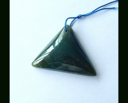 44.55 Cts Natural  Jade Triangle Pendant Bead