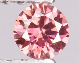 Natural 0.11 Cts Sweet Pink Diamond 3.2mm Round Cut Africa NR