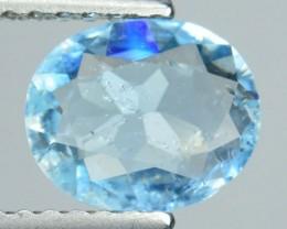 Natural Sea Blue Aquamarine Unheated Oval CUt Brazil  1$ NR