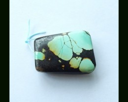 161.4 Cts Natural Turquoise Pendant Bead, Gemstone Pendant Bead, jewelry Ma