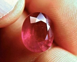 7.31 Carat Fiery Cherry Ruby - Superb