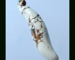 Howlite Eggplant Carved Pendant Bead