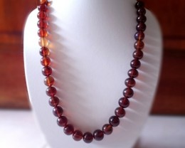 "235ct 17.5"" Natural Indonesian AMBER Beads Necklace Mixed Colors"