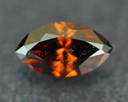 0.10Ct Natural Untreated Fancy COGNAC Color Diamond