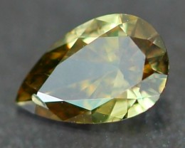 0.16Ct Natural Untreated Fancy GREEN Color Diamond