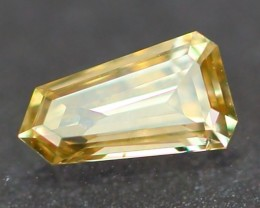 0.12Ct Arrow Cut VS Natural Untreated Fancy Light CHAMPAGNE Color Diamond