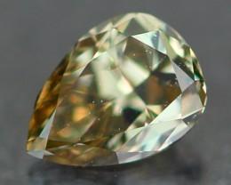 0.22Ct Natural VVS Clarity Fancy Green Color Diamond
