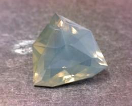 Mexican Blue Jelly Opal Custom Cut Displays Tyndall Effects Rare