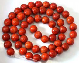 NATURAL RED CORAL  135 CTS TBG-1810