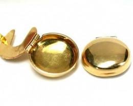STYLISH 18K   GOLD   MENS CUFFS  6.6   GRAMS  L421