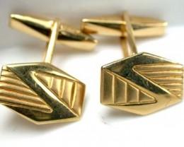 STYLISH 18K   GOLD  MENS CUFF LINKS 8  GRAMS  L422