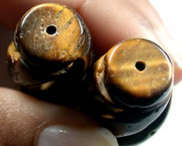 BEAUTIFUL NATURAL TIGERS EYE BEADS 60 CARATS A1005