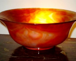 BEAUTIFUL QUALITY AGATE BOWL 2135 CTS GW 1996