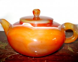 BEAUTIFUL QUALITY AGATE TEAPOT 3400 CTS GW 1999