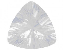 BLUE MOON QUARTZ!  7.40 CARAT WEIGHT TRILLION QUANTUM CUT. VERY RARE GEM TO FACET!