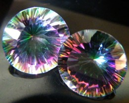 MYSTIC QUARTZ  ''TWILIGHT PAIR'' VS  13.55CTS  [S2641]