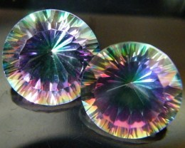 MYSTIC QUARTZ  ''TWILIGHT PAIR'' VS  14.85CTS  [S2643]