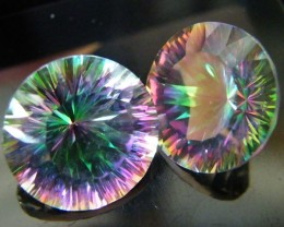 MYSTIC QUARTZ  ''TWILIGHT PAIR'' VS  14.50CTS  [S2645]