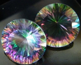 MYSTIC QUARTZ  ''TWILIGHT PAIR'' VS  15.35CTS  [S2647]